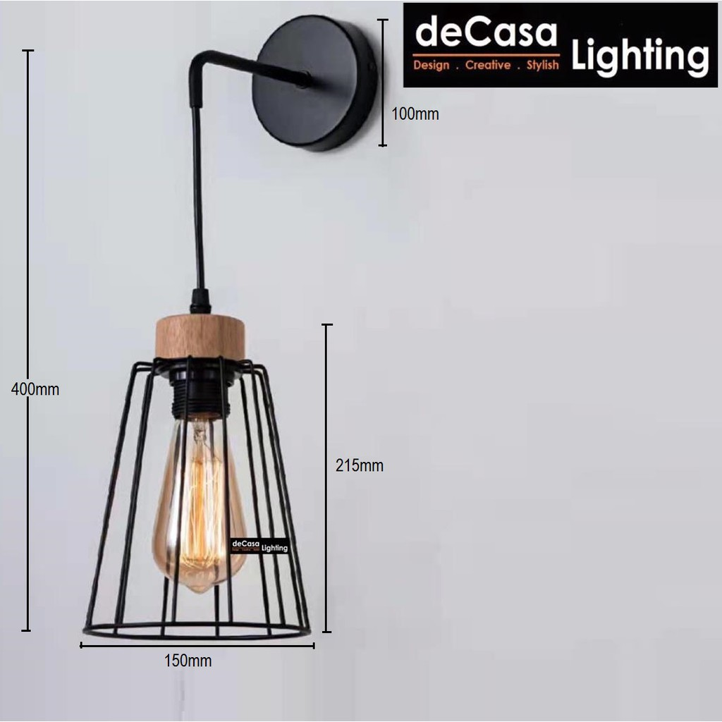 [Set With Led Bulb] Loft Wall Light / Wall Lamps Decasa Lighting Lampu Dinding Hiasan 壁灯 Wall Lighting (13333)