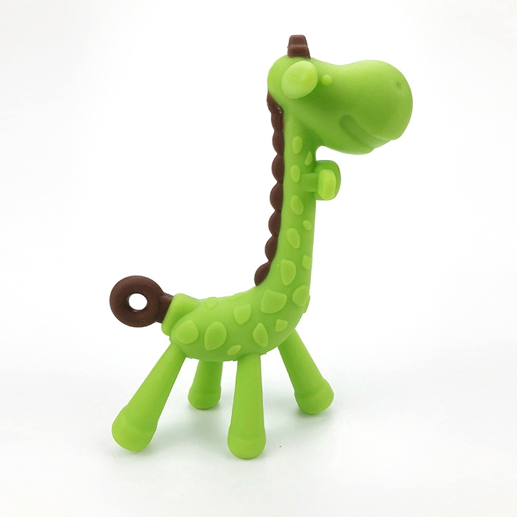 Girls Cute Chew Toys for Boys Textured Infant Teething Relief Toddlers Freezable and Dishwasher-Safe Natural /& Organic BPA-Free Silicone Newborn Babies Giraffe Baby Teether Toy