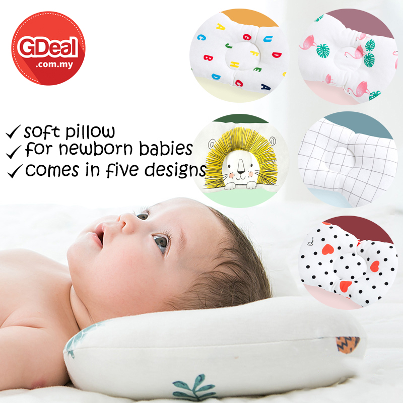 GDeal Comfortable Baby Travel Cushion Small Soft Cotton Head Shaping Pillow Bantal Bayi