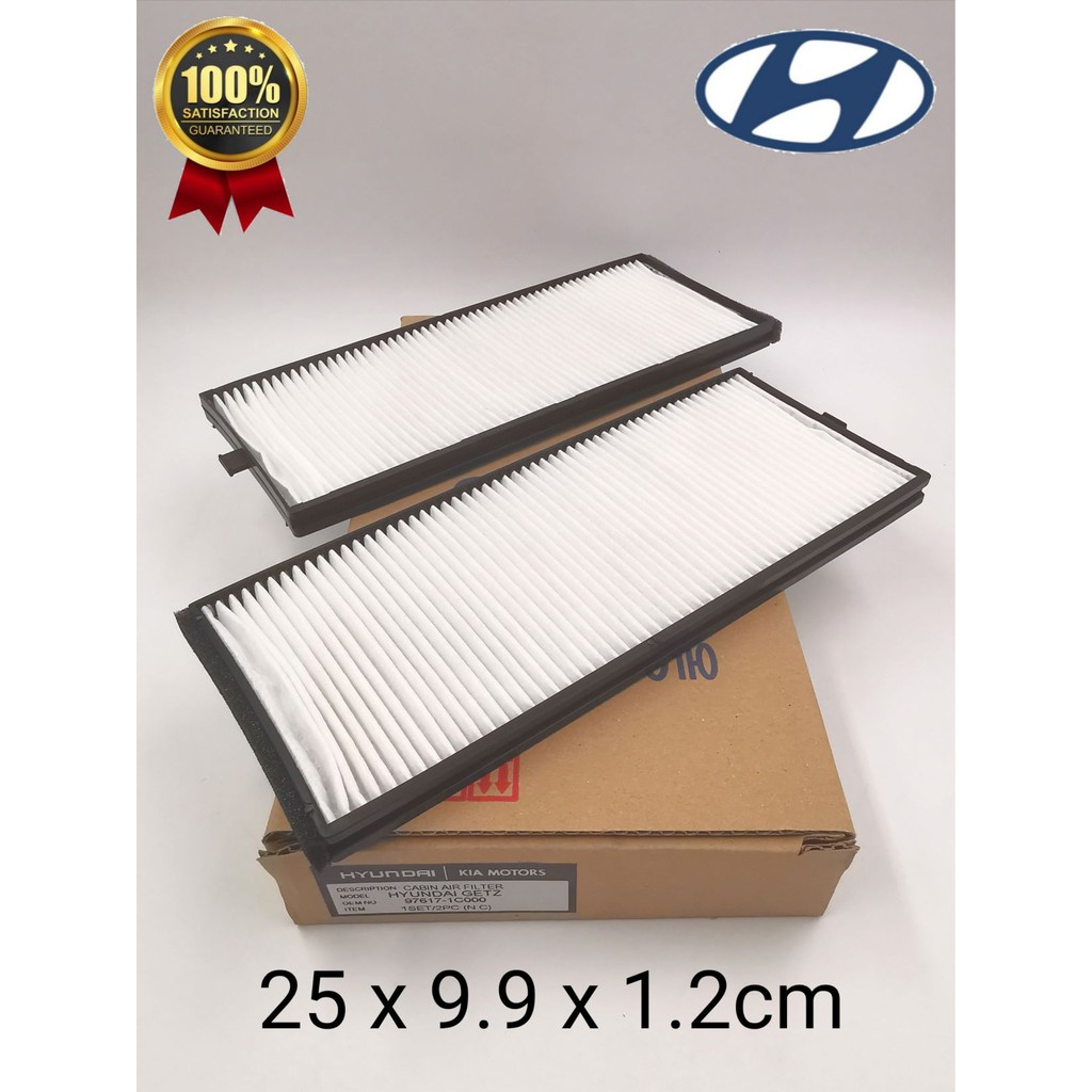 CAFHCCHGET - HYUNDAI GETZ 1.3 CABIN AIR FILTER ( SET ) 97617-1C000