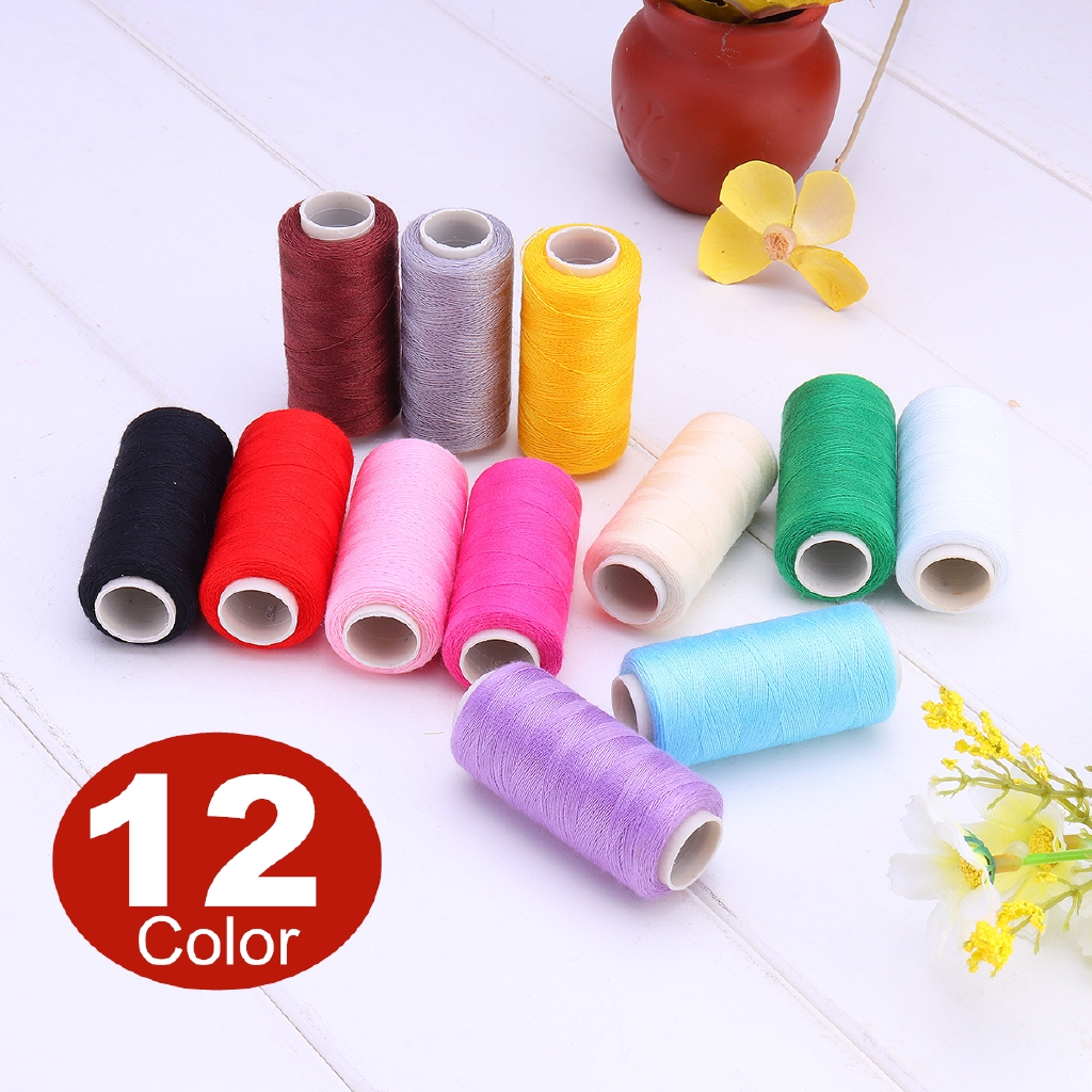 12x large spools of thread in a plastic protective bag