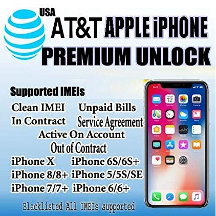 VERIZON PREMIUM iPhone UNLOCK Service Active//Financed//Blacklisted//In Contract