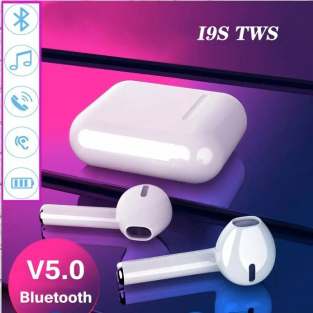 New I9S TWS Wireless Earphone 5.0 Bluetooth Headset  Earbud