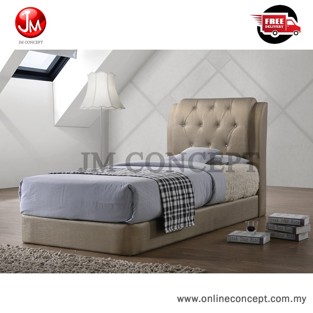 Picture of: Jm Concept Jaymin Single Super Single Size Divan Bed Gold Shopee Malaysia