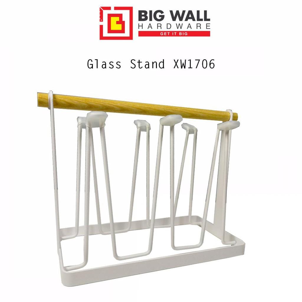 Glass Drain Stand Upside Down Storage Rack XW1706 (6 hooks)