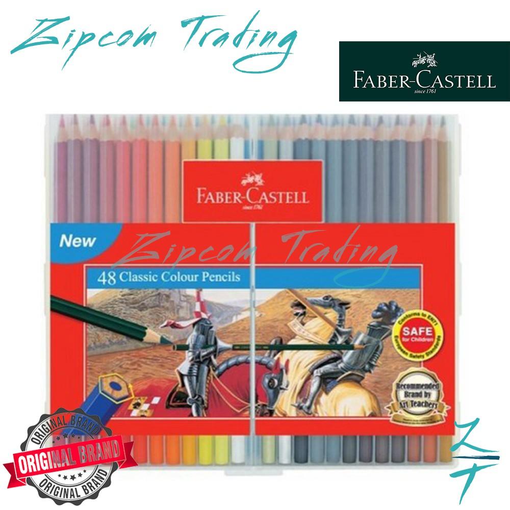 Faber Castell Classic Colour Pencil In Slim Flexi Case (12s/24s/36s/48s)