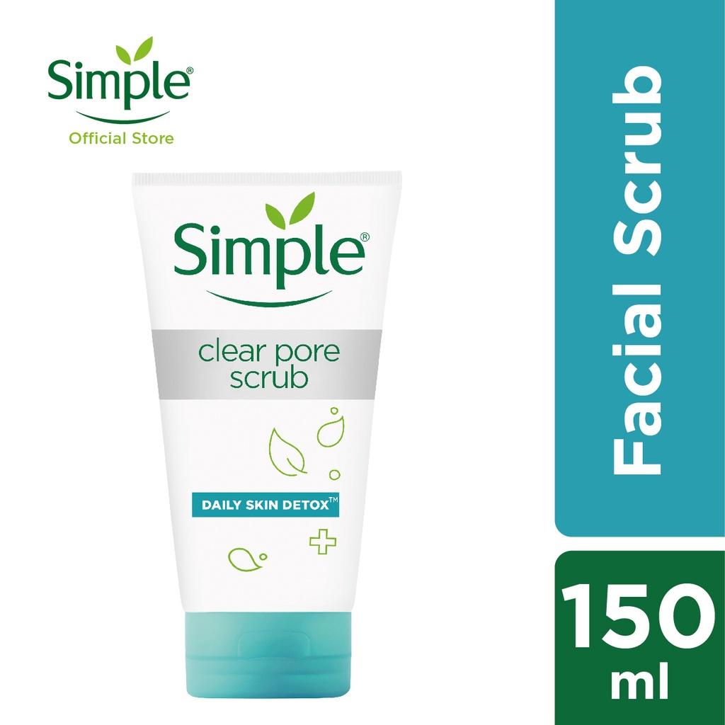Simple Daily Skin Detox Pore Polishing Facial Scrub 150ml (Exp: 100722)
