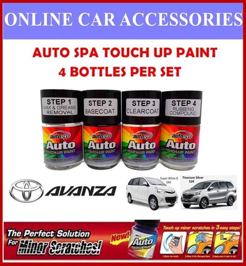 TOYOTA AVANZA Original Touch Up Paint - AUTOSPA Touch Up Combo Set (4 Bottles Per Set)