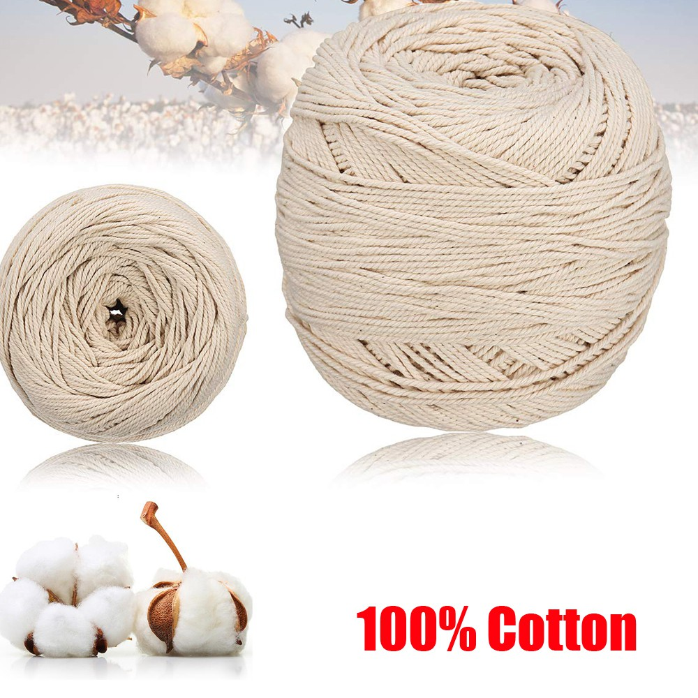 100/% NATURAL COTTON TWISTED ROPE STRONG SECURE CRAFT AND HOME 6MM THICK