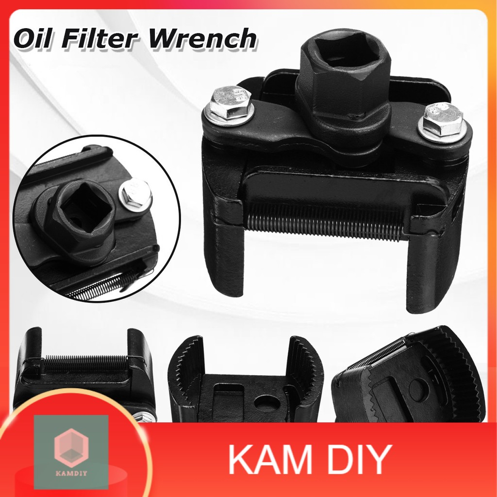 60mm-80mm / 80mm-105mm Adjustable 2 Jaw Oil Filter Wrench Fuel Remover Removal Tool Universal