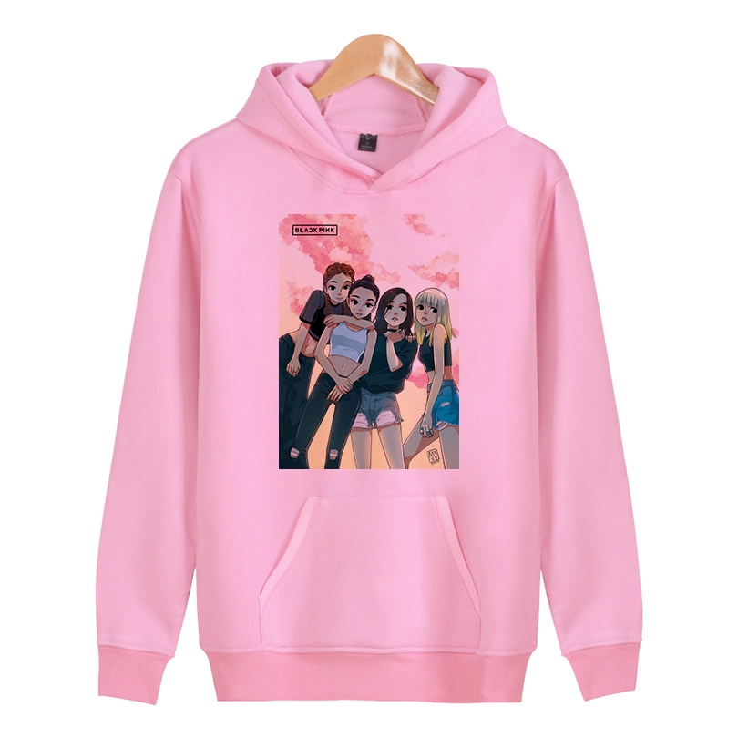 dd6ed1e6deb2d blackpink SQUARE TWO Sweatshirt Hooded sweater Hoodies Hoodies Men Women  Long Sl