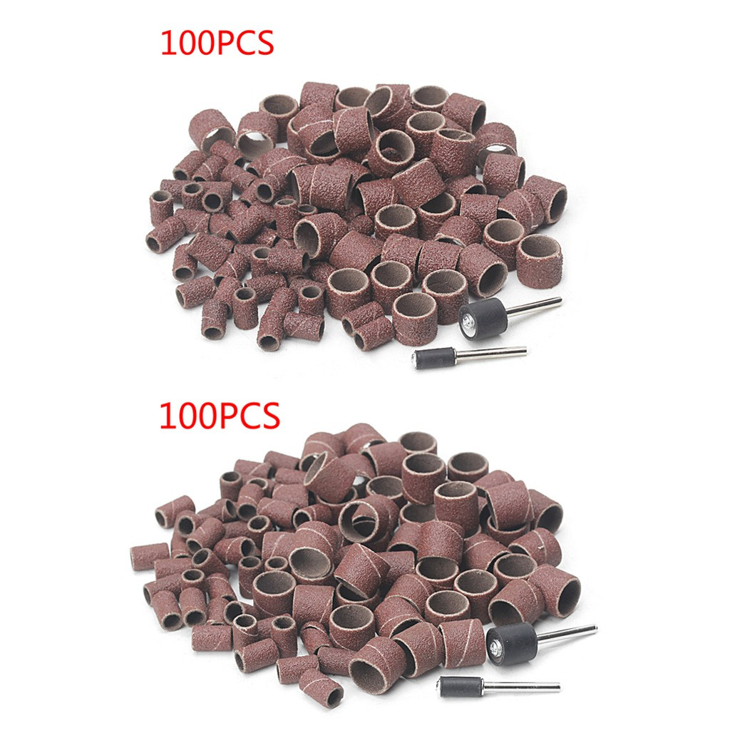 inch 50Pcs Sanding Drum 1//2 240 Grit Sand Bands Shank Rotary Tool Kit with 5Pcs Mandrels