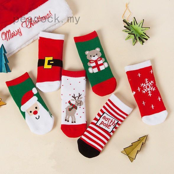 Boys Christmas Socks.1pair Kids Boys Girls Christmas Socks Merry Christmas Gift Cotton Ladies Socks Random Color