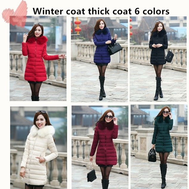 6ff099e4 Female winter coat thick large size 6 color loose self-cultivation long  section