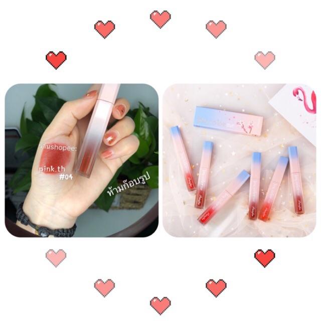 ✨pink✨ลิปจิ้มจุ่ม กันน้ำ Lip Gloss ลิปกลอส ลิ