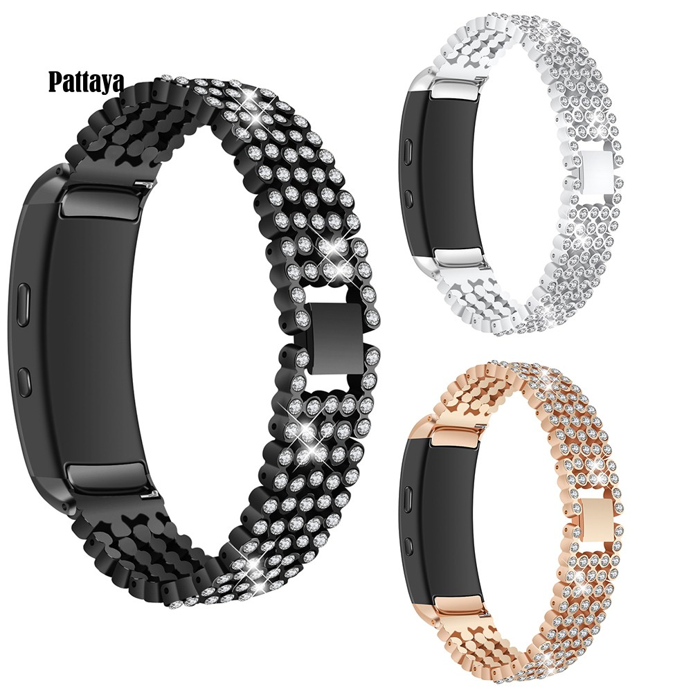 PT-Smart Rhinestone Watch Strap Band Wristband Accessories for Samsung Gear Fit 2