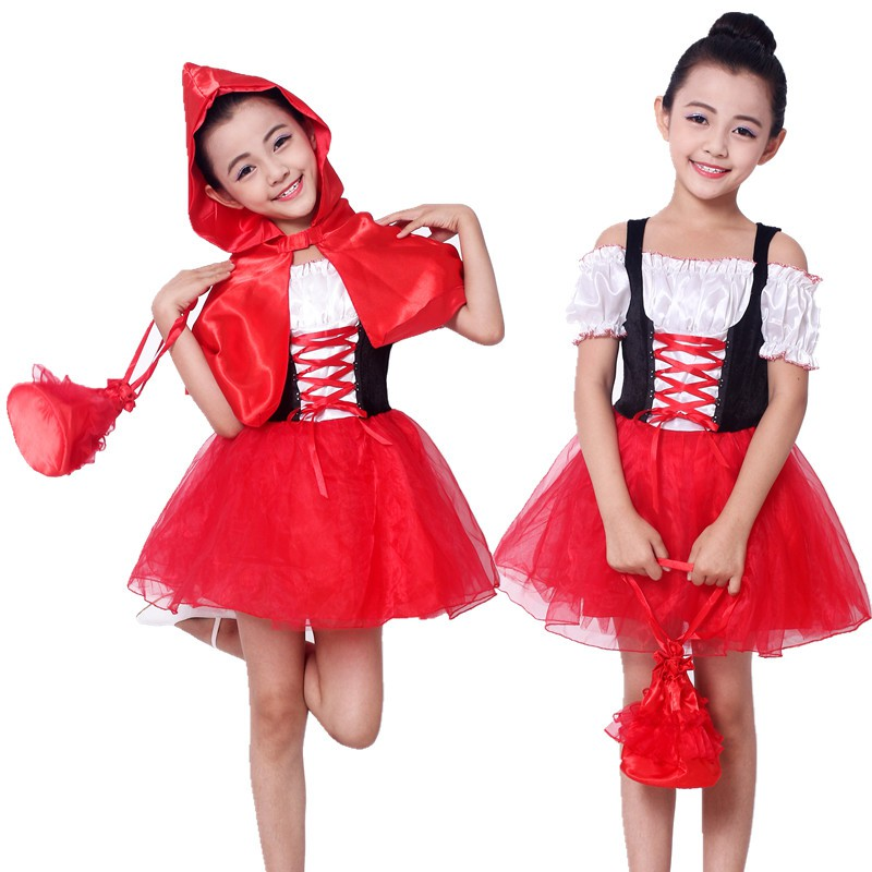 901129be3b3e4 KIDS girl Christmas costume Little Red Riding Hood Tutu costume fairy tale