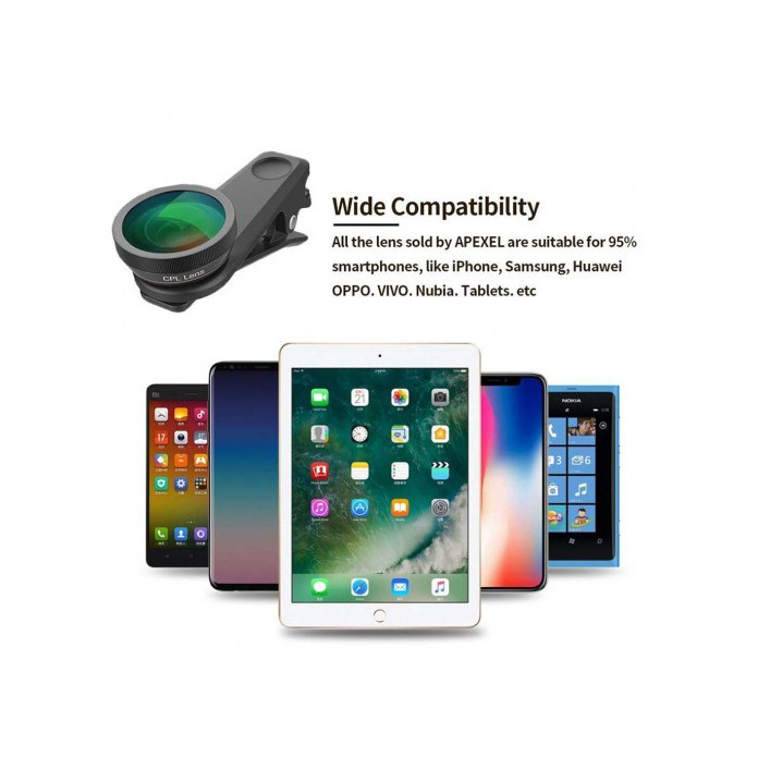 Polarizer Closeup Lens Kit for Oppo A7 Gadget Place Variable ND Filter