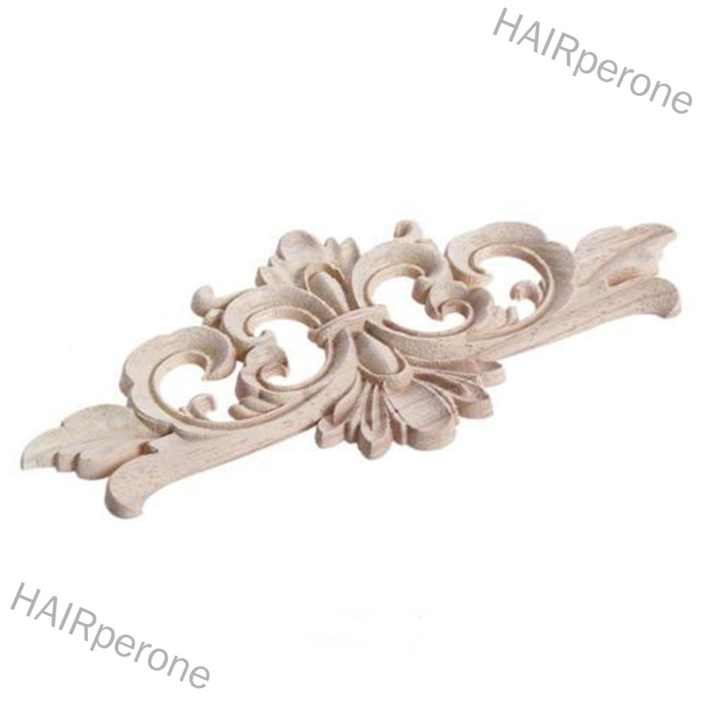 HAIRperone European Style Wood Carved Corner Applique Unpainted Furniture Decoration