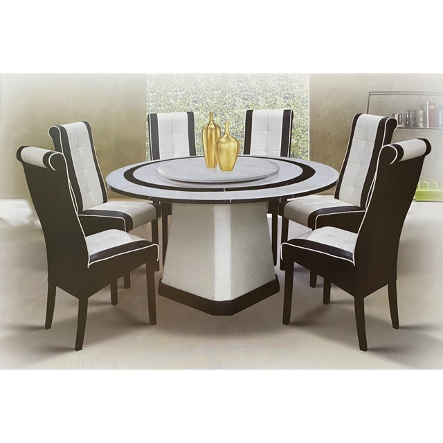 Round Marble Dining Table And Chair 1 6 Shopee Malaysia