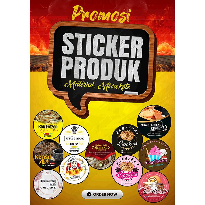 Sticker Produk Murah