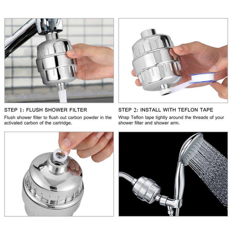 ♬☂Bathroom Water Filter Purifier Easy Install Softener Chlorine Shower  Filter♪