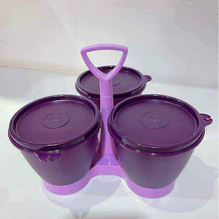 Tupperware Royal Blossom Condimate with One Touch Seal