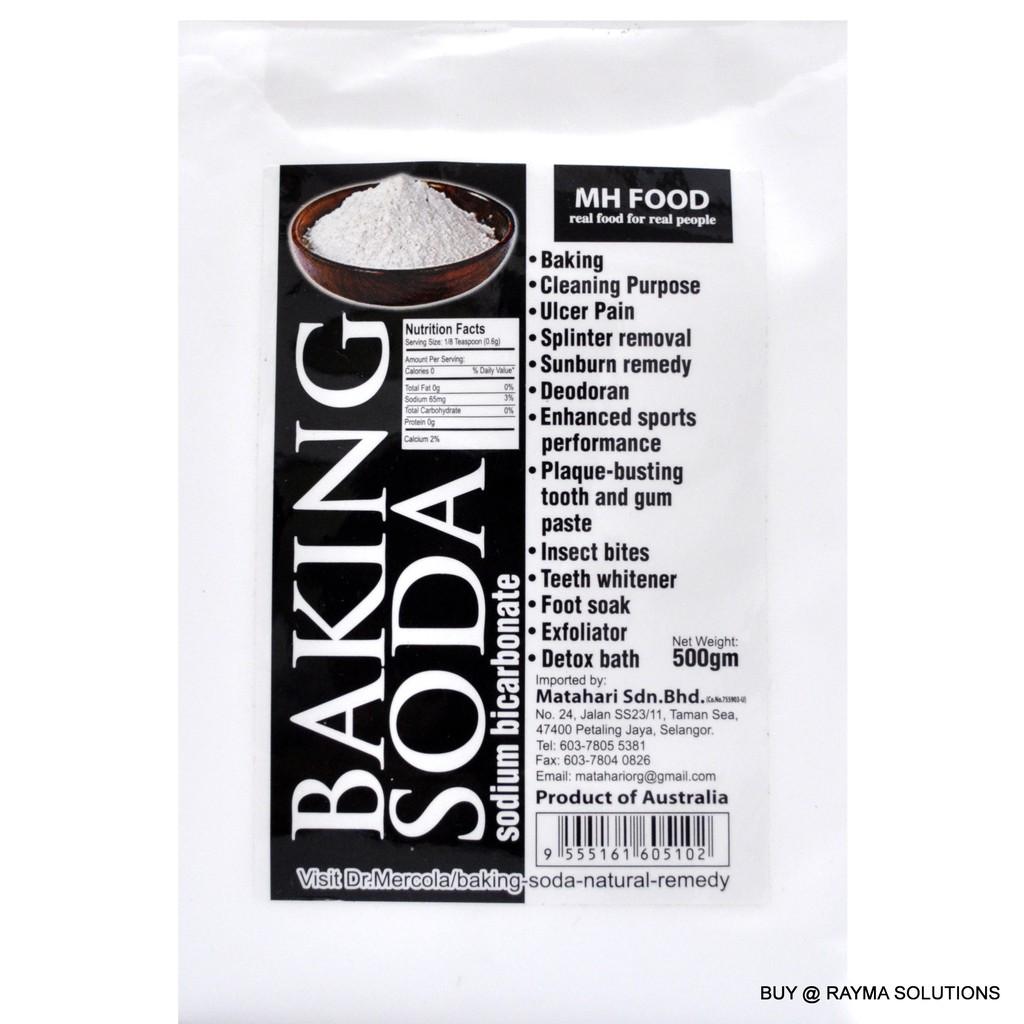 MH FOOD Baking Soda, Sodium Bicarbonate, 500g