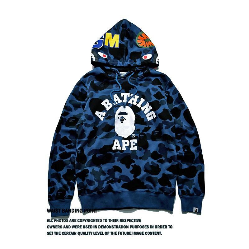 24215a507ecb New Bape Jacket SHARK Head Camo FULL ZIP HOODIE Long Sleeve Clothes ...