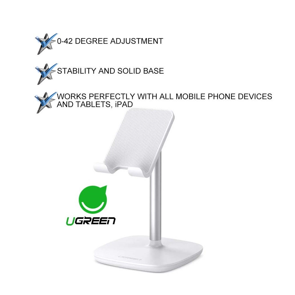 UGREEN 42 Degree Multi Angle Adjustable Tablets Phone Stand Holder for All Phone Device IOS Android iPhone iPad Tablet