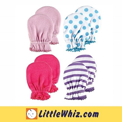 Luvable Friends: Mittens: Scratch Mittens - 4 Pairs