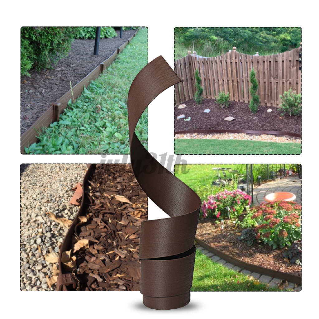 Garden Lawn Edging Border Edge Landscape Flower Bed Landscaping Pegs Plactic Shopee Malaysia