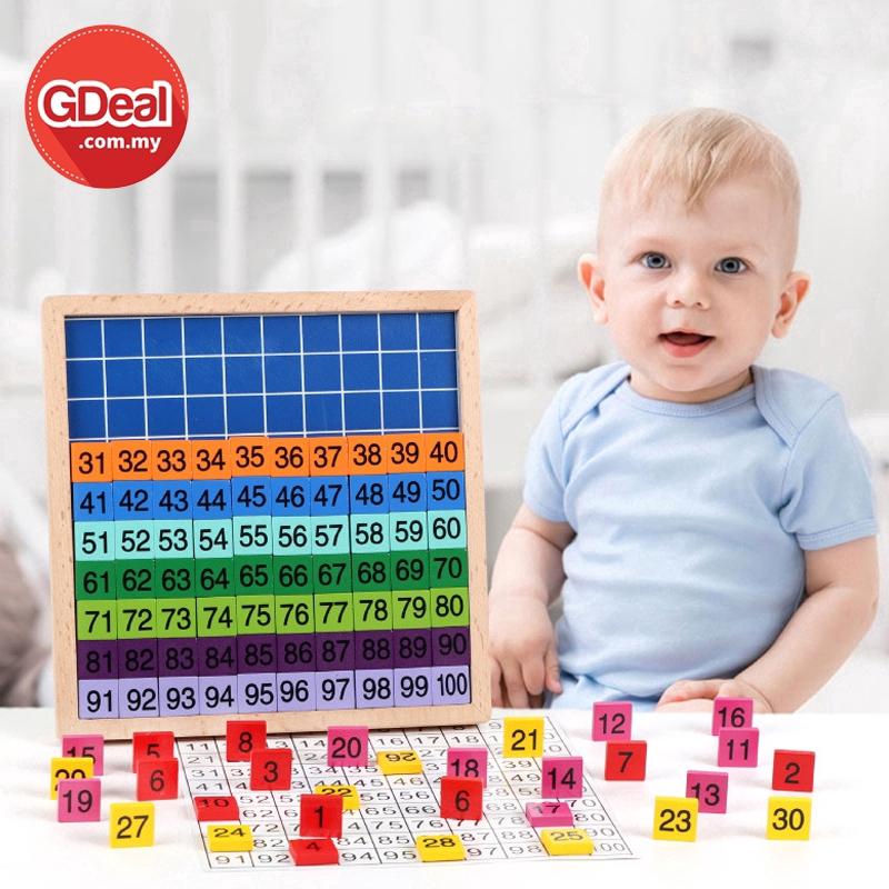 GDeal Children Education Digital Wooden Board Early Learning Numbered Blocks Mainan Kanak Kanak ماءينن كانق كانق