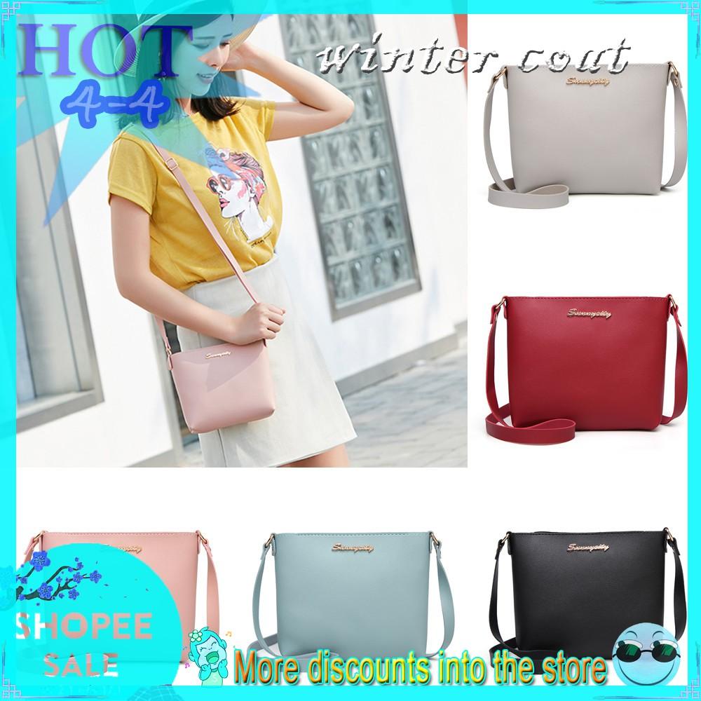 458b9017cba3 [ReadyStock] Women Solid Color Messenger Shoulder Bag
