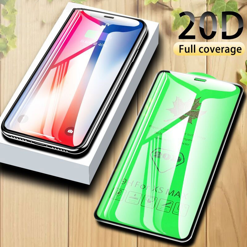 20D Full Cover Protective Glass Curved Edge Screen Protector Film For  iPhone 11 Pro Max 7 8 6 6S Plus XR XS Max X Glass Film | Shopee Malaysia