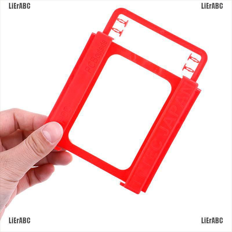LiErABC1Pc 2.5 to 3.5 adapter bracket SSD HDD notebook mounting tray caddy bay post[Instock]