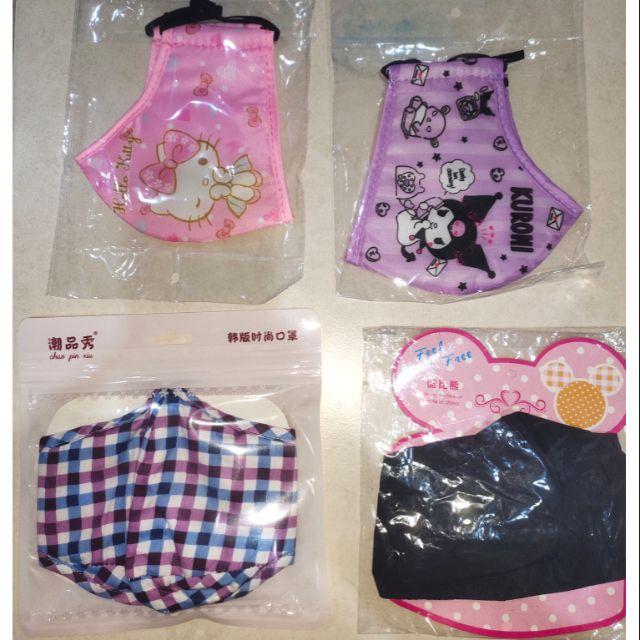 🆕💯👍🎉check/ black plain/kuromi/kitty waterproof adult mask 😷😷