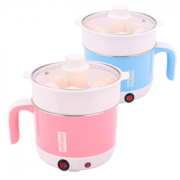 HAPPY TIME 17CM STAINLESS STEEL COOKER WITH STEAM BASKET