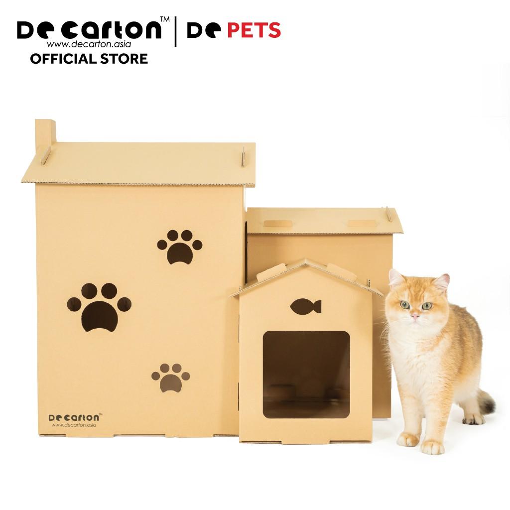 De Carton Cardboard Paw-Paw Cat Bungalow (Banglo Kucing)