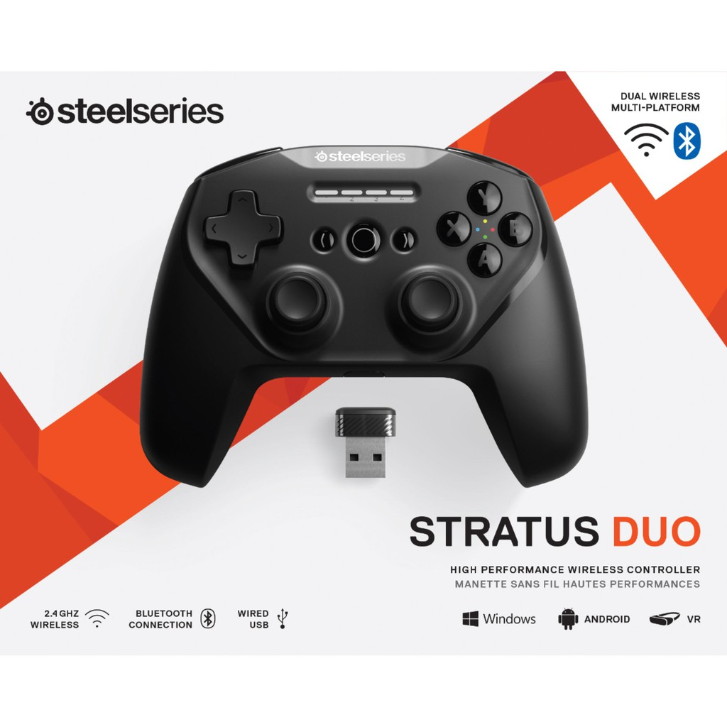 {69075}{Drop off within 24Hours} Steelseries STRATUS DUO CONTROLLERS  Made for Android, Windows, and VR