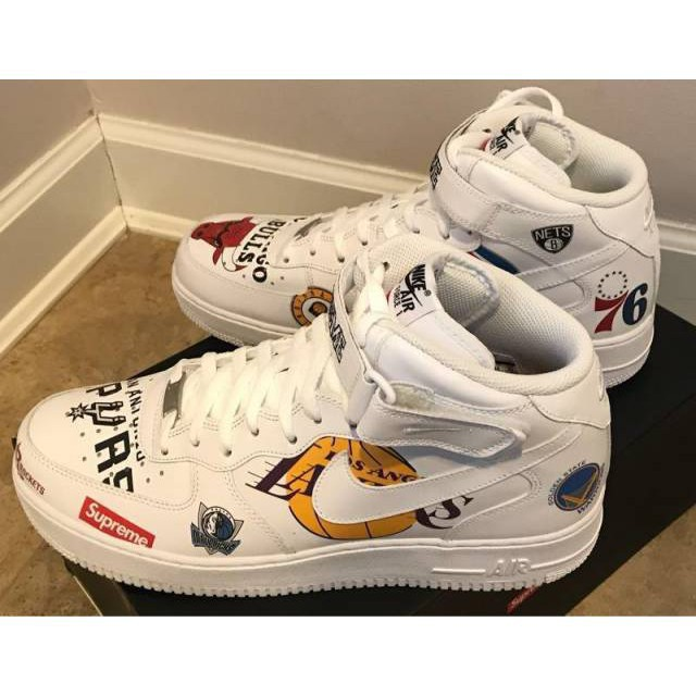 separation shoes 1be90 3f16d Ready Stock Nike Air Force 1 Mid Supreme NBA Inspired1807499782