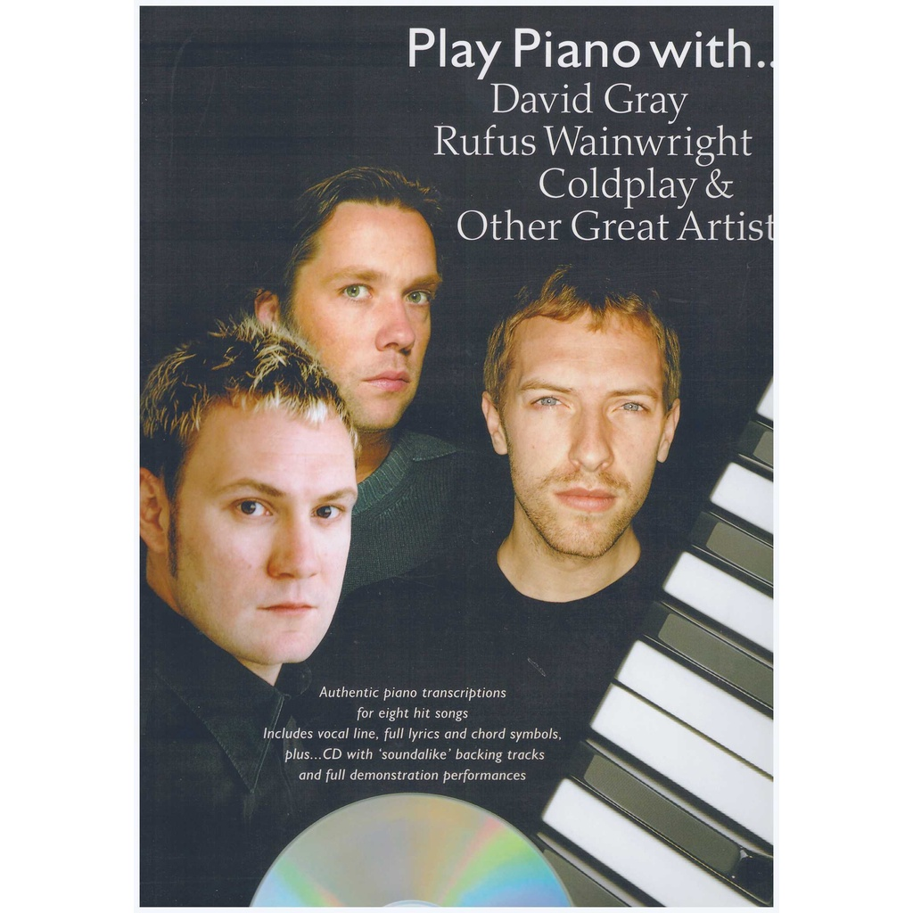 Play Piano With... David Gray, Rufus Wainwright, Coldplay & Other Great Artists / PVG Book