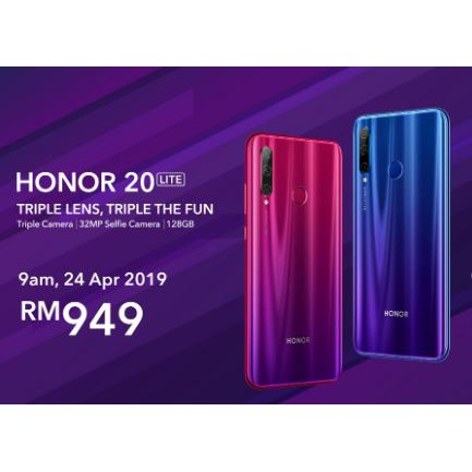 HUAWEI MALAYSIA Honor 20 / 20 Lite 128GB (ORIGINAL)