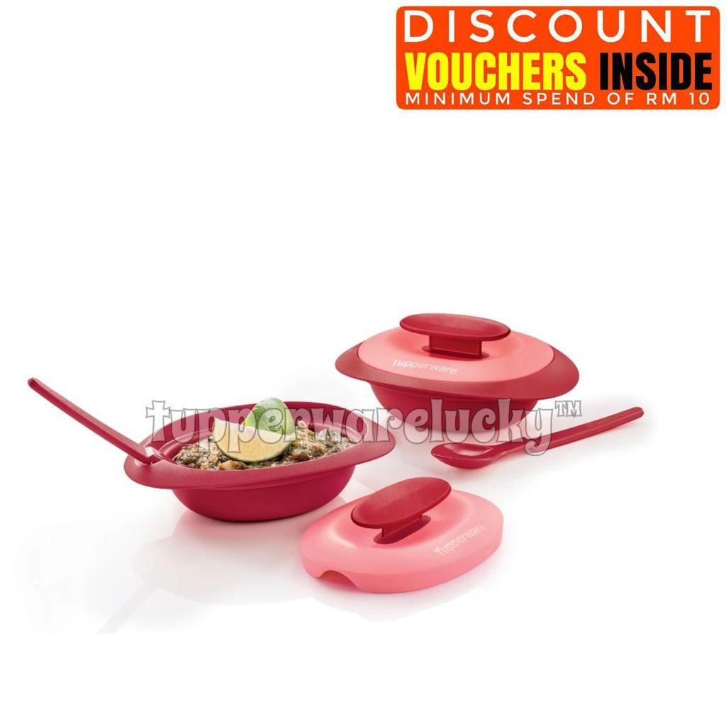 Original Tupperware Petit Royal Red Blossom Microwaveable Serving Cherry Set Merah Readystock Shopee Malaysia