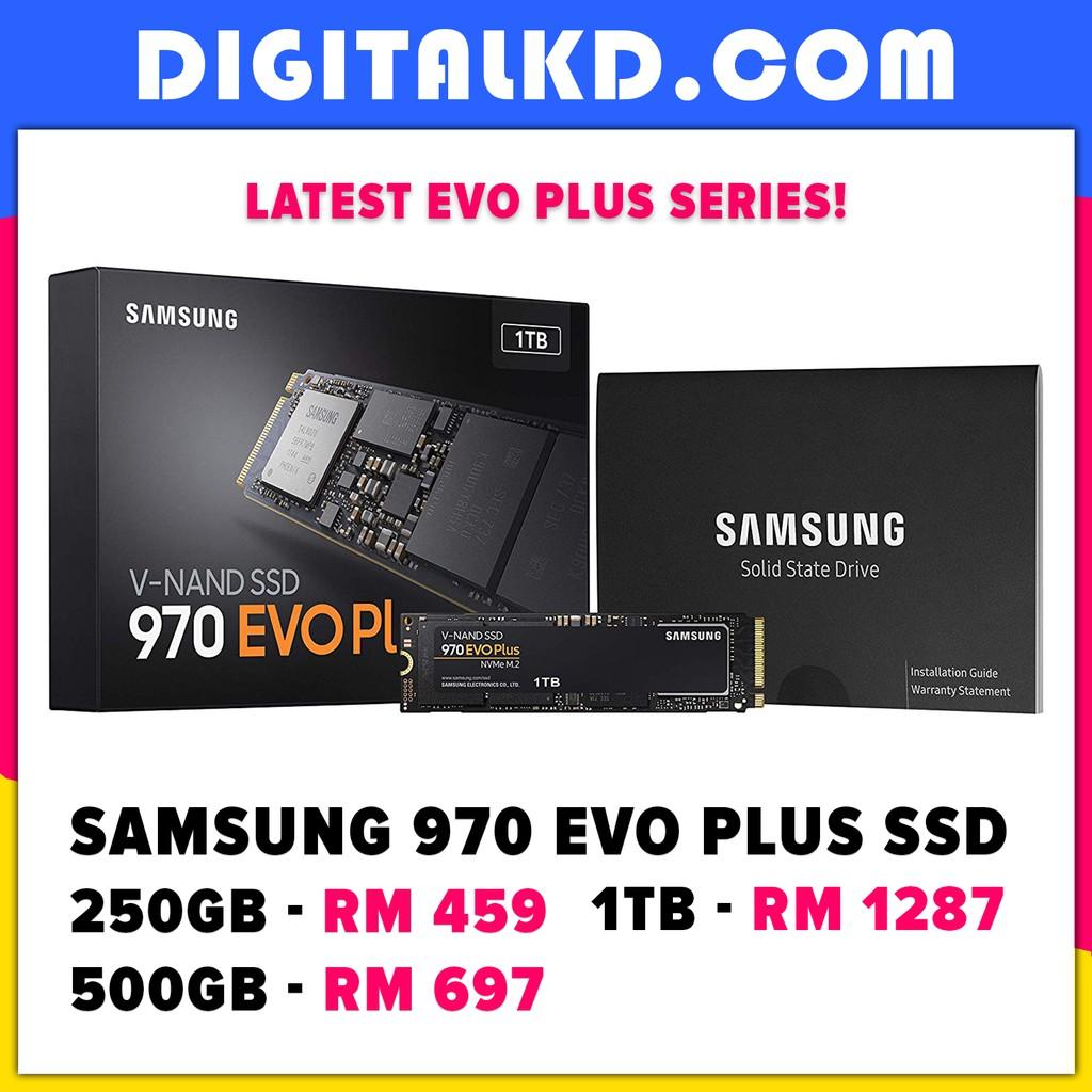 Samsung 970 EVO Plus M 2 SSD NVMe 250GB 500GB 1TB | 970 PRO 512GB
