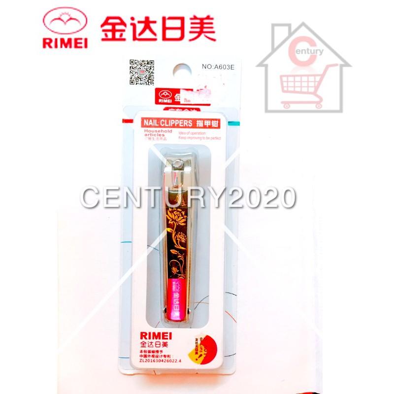 RIMEI Nail Clipper Manicure Care Nail Cutter High Grade Stainless Steel Nail Cutter A603E