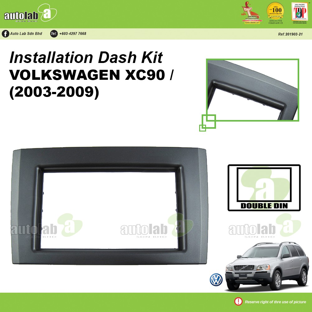 Player Casing Double Din Volvo XC90 (2003-2009)