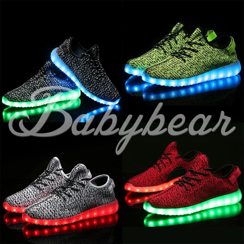 Red Black, Size 1 Flashlights Boys LED Rechargeable Lighted Athletic Style Shoe