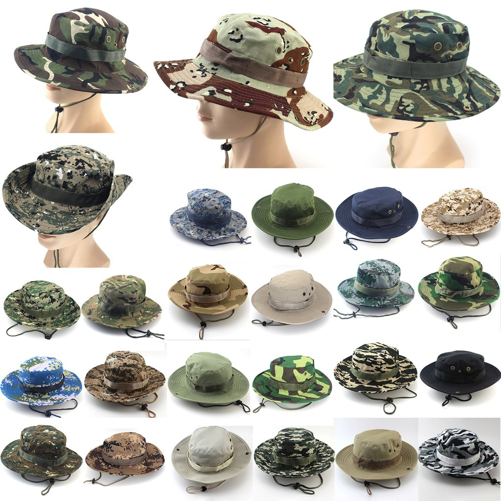 6e2b8303 ProductImage. ProductImage. Men Women Camouflage Hat Boonie Outdoor Summer  Military Fishing Sun