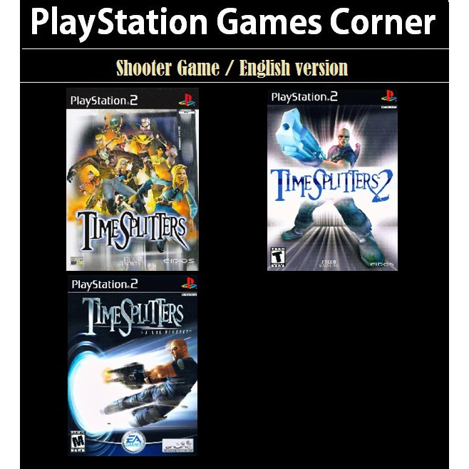 PS2 Game Time Splitters 1 2, Future Perfect, First Shooter Game, English version / PlayStation 2